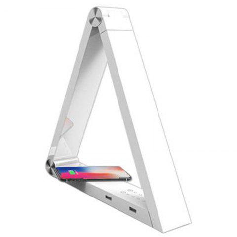 LED Triangle Wireless Charging Desk Lamp - WHITE US