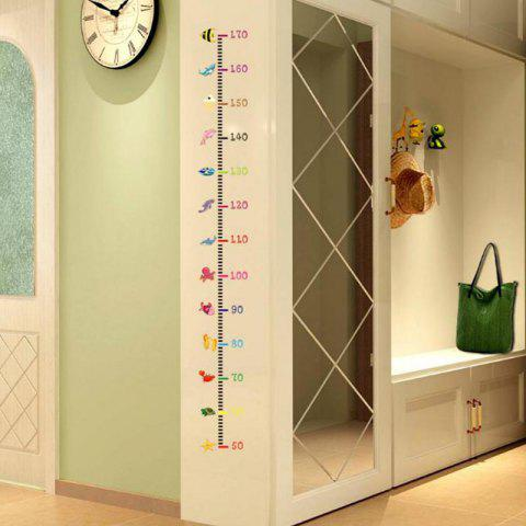 Undersea Animal Style Home Wall Stickers for Children's Height - multicolor B