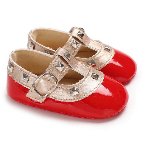B188 0 - 1 Year Old Girl Baby Princess Toddler Shoes Soft Bottom Non-slip - RED WINE EU 23