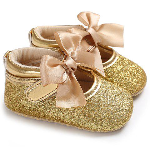 C - 431 Spring Autumn 0 - 1 Baby Girl Soft Baby Toddler Shoes - GOLD EU 21