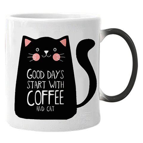 Color Changing Mug Thermal Cup - BLACK CAT