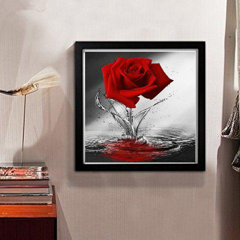 DIY Diamond Painting 5D Three-dimensional Painted Rose for Bedroom Decoration - VALENTINE RED