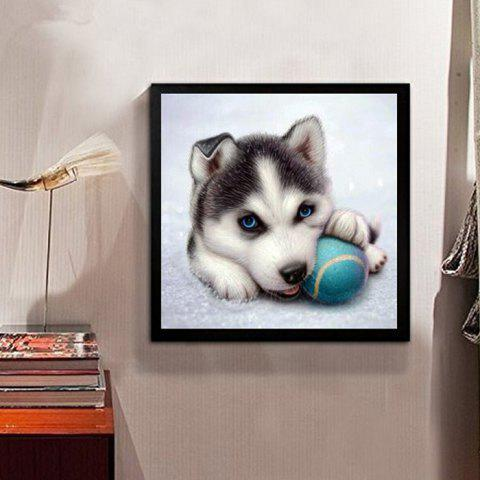 DIY Diamond Painting 5D Three-dimensional Painted Cartoon Puppy for Children's Bedroom Decorative - ASH GRAY