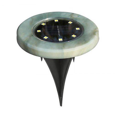 8-LED Outdoor Waterproof Solar Marble LED Underground Light - multicolor C