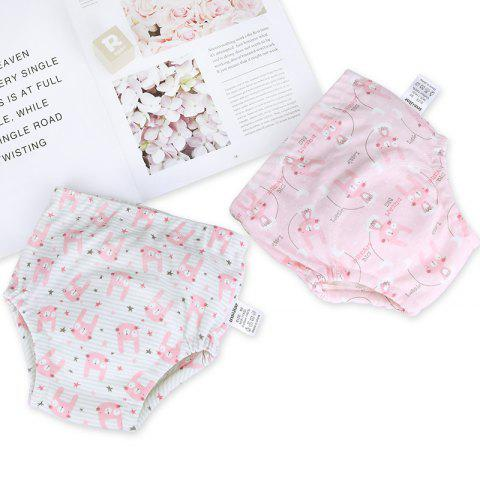 Insular SU2001 Cartoon Cotton Leakproof Baby Learning Shorts Training Pants 2pcs - multicolor H 90