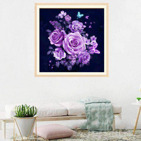 DIY Flower Diamond Painting 5D Three-dimensional Painted for Children's Bedroom Decoration - VIOLET