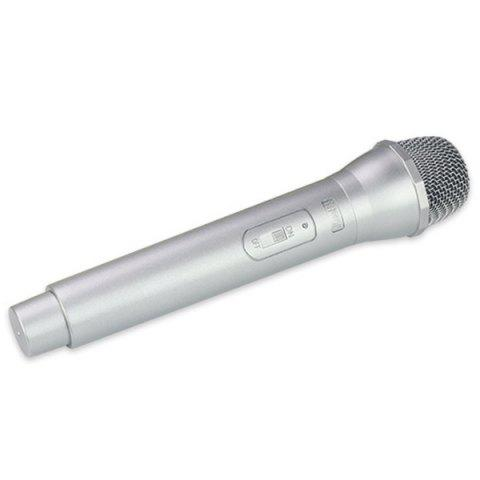 High Simulation Plastic Microphone Model Stage Performance Prop - SILVER