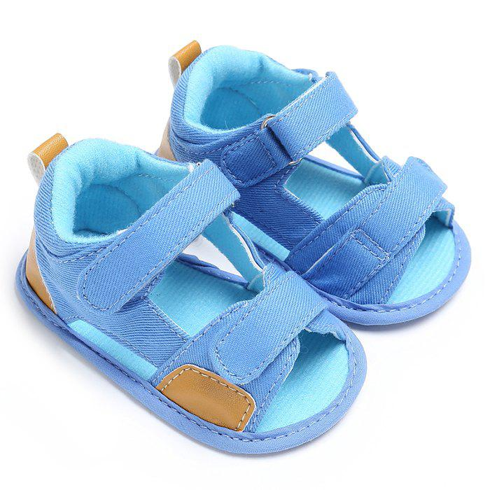 C - 333 0 - 1 Year Old Baby Sandals Soft Bottom Toddler Shoes - LIGHT BLUE EU 21