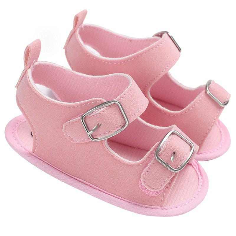 C - 463 Summer 0 - 1 Year Old Sandals Silicone Non-slip Baby Toddler Shoes - LIGHT PINK EU 23