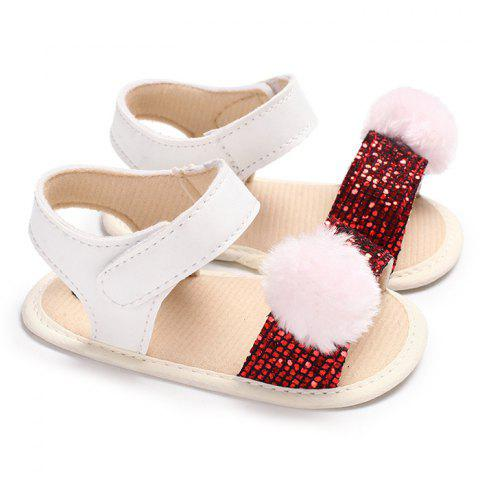 C - 481 Summer 0 - 1 Year Old Baby Girl Toddler Shoes - RED WINE EU 23