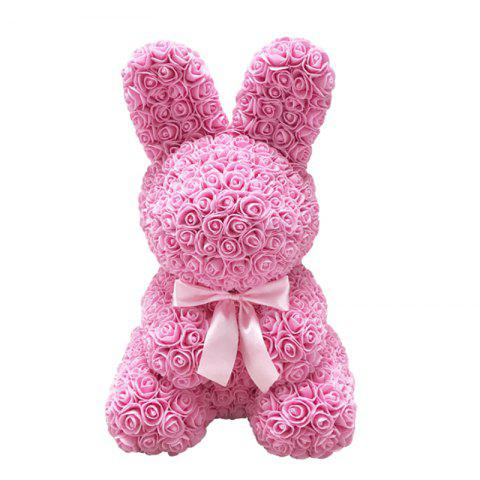 Simulation Rose Bunny Easter Mother's Day Gift - PINK