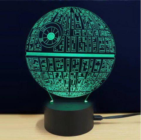 LED 3D Acrylic Ambient Lamp Night Light - multicolor