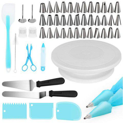 Turntable Decorating Mouth Kitchen Cake Tool 52pcs - multicolor A
