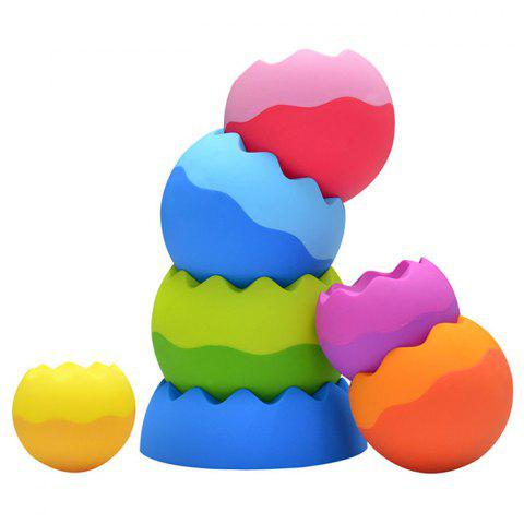 LSB2000028 Twist Ball Rainbow Jenga Cup Puzzle Stacking Toys - multicolor