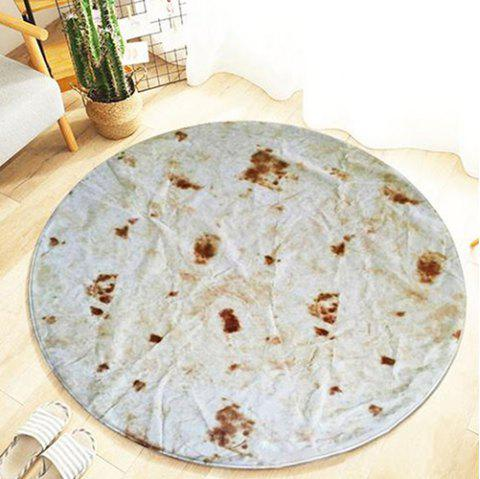 Printing Round Office Living Room Tortilla Blanket Carpet - multicolor A 80CM (ROUND)