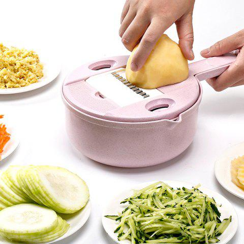 Kitchen Round Potato Grater Multifunctional Vegetable Cutter - PIG PINK