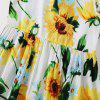 Children Sunflower Print Sleeveless Dress - multicolor A 6-7YEARS(140)
