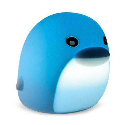 BRELONG DB0004 Colorful Dolphin Night Light Pats Ambient Lamp for Bedroom - BLUE