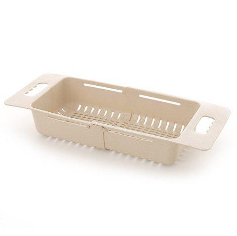Household Retractable Adjustment Sink Drain Basket - BLANCHED ALMOND