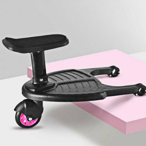 Small Stroller Step Board Child's Auxiliary Pedal - PIG PINK