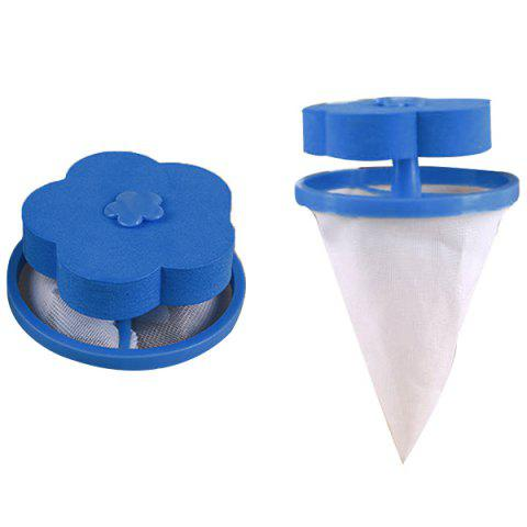 Household Practical Washing Machine Hair Remover Laundry Filter Bag 1pcs - OCEAN BLUE 1PC