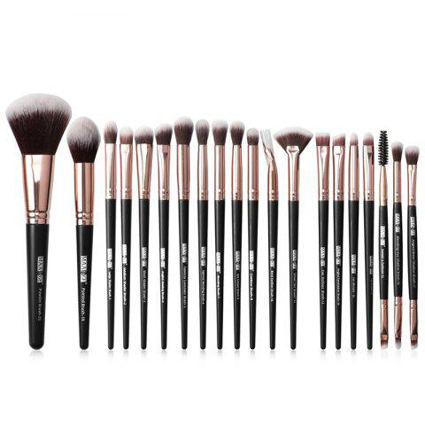 MAANGE MAG5748 Makeup Brushes Set Beauty Make Up Tools 20pcs - BLACK EEL