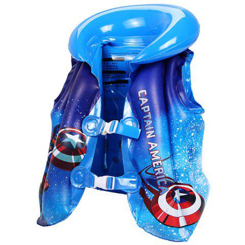 MARVEL Z802007 Gilet De Natation Gonflable - Bleu CAPTAIN AMERICA