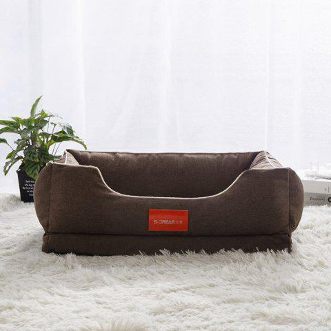 S Dream Thick Detachable Pet Bed - BROWN OVERSIZE