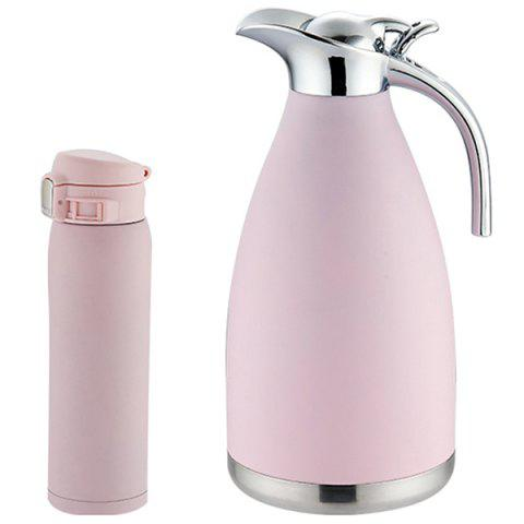 WDH - G0171211 Household Stainless Steel Vacuum Cup Set - PIG PINK