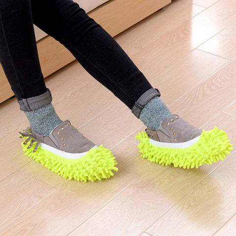 Detachable Cleaning Non-slip Shoe Cover 3 Pairs - YELLOW GREEN