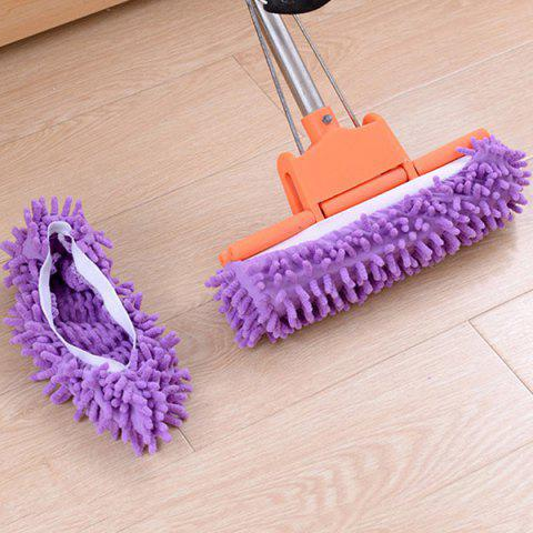 Detachable Cleaning Non-slip Shoe Cover 3 Pairs - DARK VIOLET