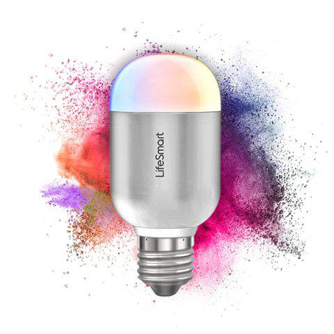 LifeSmart LS030UN 90 - 240V 6W Bluetooth Smart Bulb Mobile Control Color Change with Music - GRAY CLOUD
