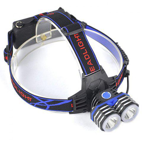 Double Head LED Headlight CREE XM - L2 3000lm Lamp - BLUEBERRY BLUE