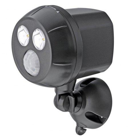 brelong 2 LED Induction Wall Light Super Bright Waterproof Windproof Protection - BLACK