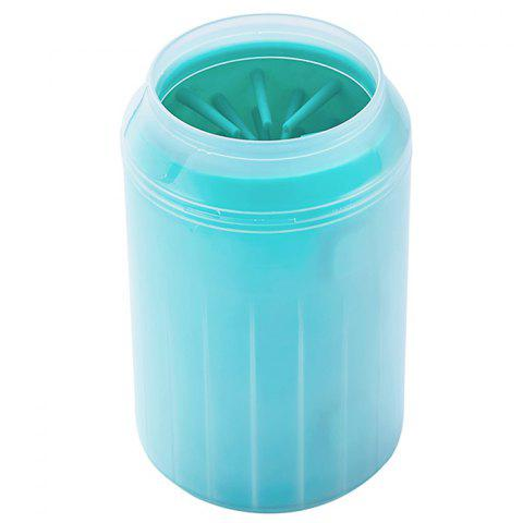 Soft Material / Simple Operation / Manual Comfortable Rubber Pet Dog Foot Wash Cup - MEDIUM TURQUOISE S