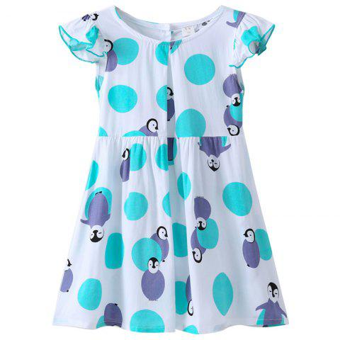 XXQZ Cotton Short-sleeved Dress for Girls - multicolor C 2-3YEARS(100)