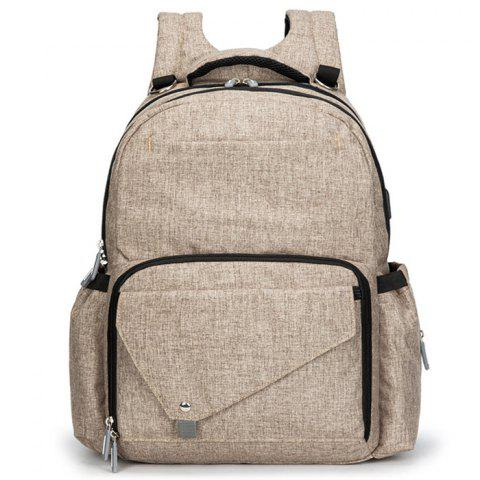 LD25 Multi-function Large-capacity Shoulder Backpack - CHAMPAGNE GOLD