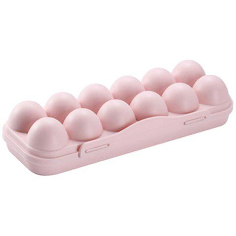 Foldable Egg Storage Box with Lid - PINK