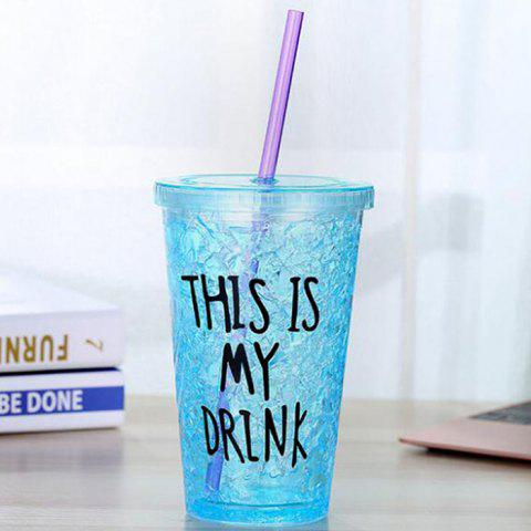Fashion Double-layer Sippy Couple Gift Cup - DEEP SKY BLUE