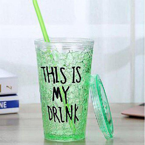 Fashion Double-layer Sippy Couple Gift Cup - ALGAE GREEN