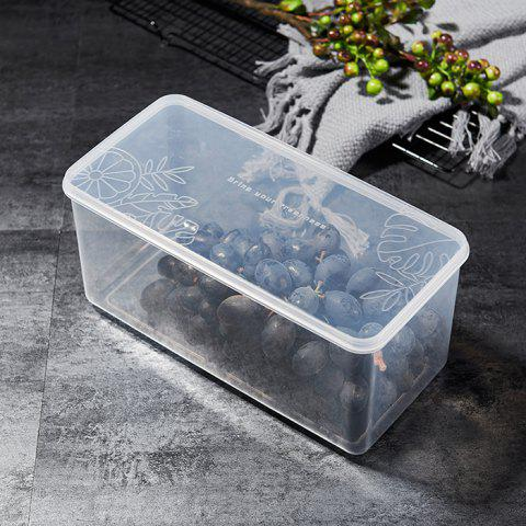 Rectangular Household Buckle Cover Sealed Storage Box - TRANSPARENT