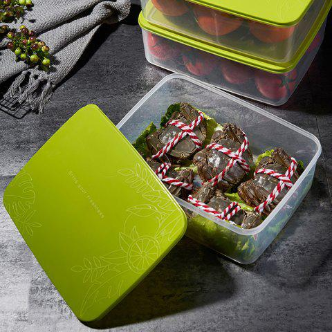 Household Rectangular Buckle Cover Sealed Storage Box - SALAD GREEN