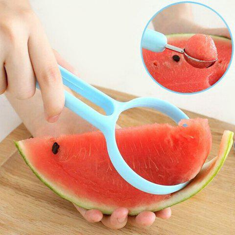 2-in-1 Labor-saving Kitchen Watermelon Peeling Ball Digger Fruit Cut Tool - LIGHT SKY BLUE