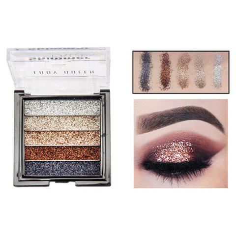 ME0061 5 Color Beauty Waterproof Long-lasting Natural Glitter Stage Makeup Eye Shadow Tray - multicolor A