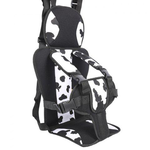 Small Child Portable Car Safety Seat - WHITE
