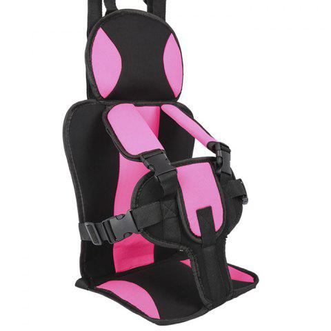 Small Child Portable Car Safety Seat - HOT PINK