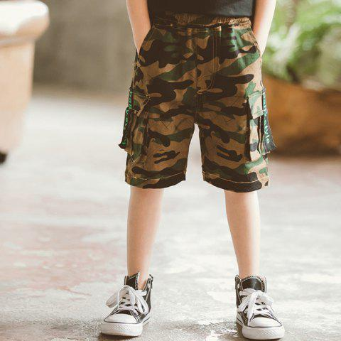 DD1171 Boy Camouflage Tooling Multi-bag Five Pants - ACU CAMOUFLAGE 13-15YEARS(170CM)