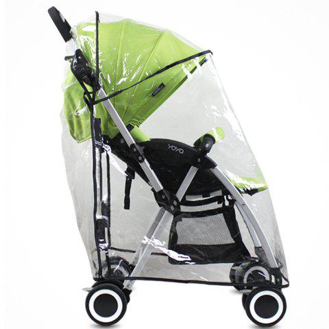 Universal Rain Cover Windproof Awning for Baby Stroller - TRANSPARENT