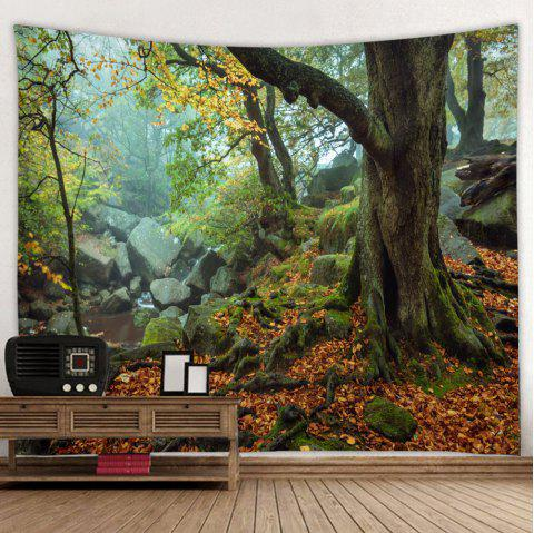 Big Tree Forest Tapestry Home Decoration - CLOVER GREEN W150 X L130CM