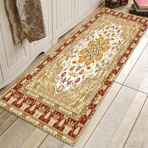 Home Bedroom Flannel Printed Carpet - TAN W24 X L71 INCH